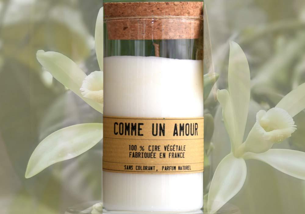 Artisanat relaxation Ingr/édient naturel 35 heures aromath/érapie D/étente Bougie /éco responsable parfum/ée Vanille des iles
