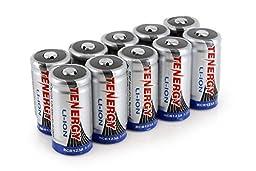 Tenergy RCR123A 3.0V 600mAh Li-Ion Rechargeable Battery (10 pcs)