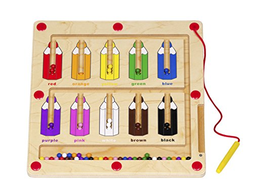 Magnetic Wand Number Maze - Magnetic Color Matching Game for Kids