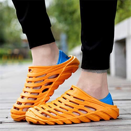 Walking Beach Water Garden Slippers Sandals Clogs Shoes Breathable Men's Quick Drying Orange Lightweight xzESxw