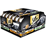 SHEBA PERFECT PORTIONS Paté Multipack Savory Chicken Entrée & Roasted Turkey Entrée Grain Free Cat Food 2.6 Ounces (24 Twin Packs)
