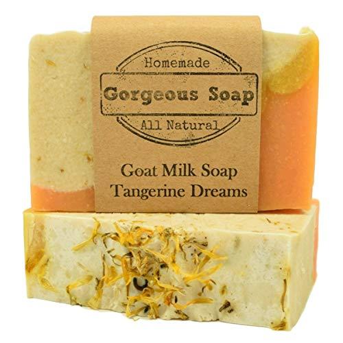 (Tangerine Dreams Goat Milk Soap - All Natural Soap, Handmade Soap, Homemade Soap, Handcrafted Soap)