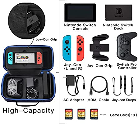 SHareconn Funda para Nintendo Switch, Portátil Duro de Viaje Bolsa ...