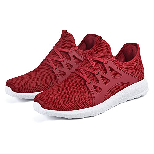 Red Shoes Feetmat Running Fashion Athletic White Lightweight Womens Sneakers Mesh Ultra Breathable wRvzw
