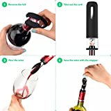 Vremi Electric Wine Opener Set - Automatic Wine Bottle Opener - Electric Corkscrew Auto Wine Opener with Electronic Chargeable Base - Rechargeable Cordless Wine Opener with Pourer and Foil Cutter