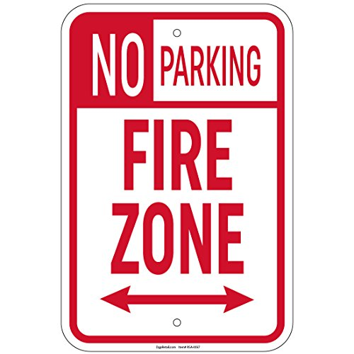Arrow Sign Double (No Parking Fire Zone with double arrow 1 Sign 8