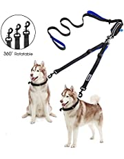 Double Dog Leash - YOUTHINK Adjustable Dog Walking Leash for 2 Dogs Reflective Control with Comfort Grip Dual Padded Handles Perfect for Walking Running Hiking