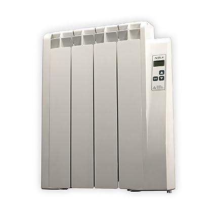 farho Tessla - Radiador Eléctrico de bajo Consumo 500 W, Digital Programable y con opción