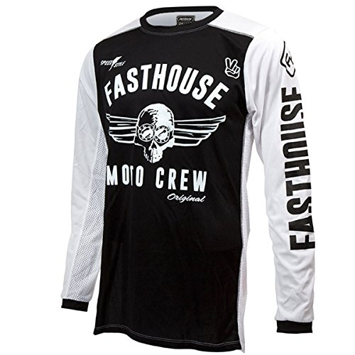 Fasthouse Original Air Cooled Men's Motocross Motorcycle Jersey Black 2X-Large by Fasthouse