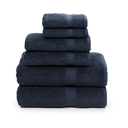 Linum Home Textiles SN50-6C Bath Towel, Navy by Linum Home Textiles (Image #2)