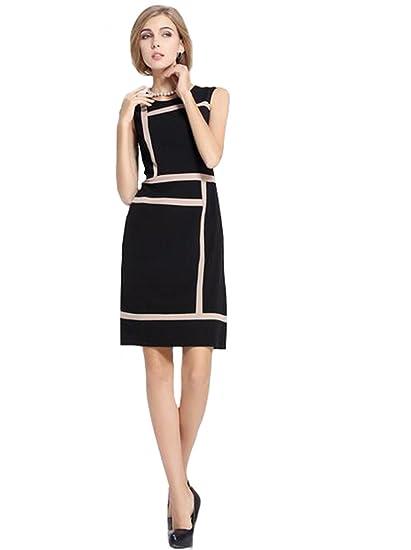 40f704378daaa Km Women's Spring Large Professional Women Sleeveless Vest Dress Summer  (XXXL)