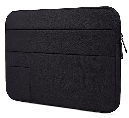 15.6 Inch Waterproof Laptop Sleeve Bag for Acer Aspire E 15, Acer Chromebook 15, ASUS VivoBook F510UA, Lenovo Ideapad/Yoga 720 15.6, HP 15.6″ Laptop, Dell Inspiron, 15.6 Protective Notebook Bag, Black