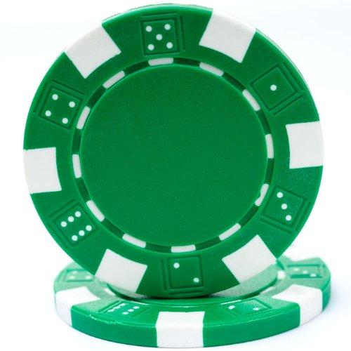 Trademark Poker 50 Striped Chip, 11.5gm, Green