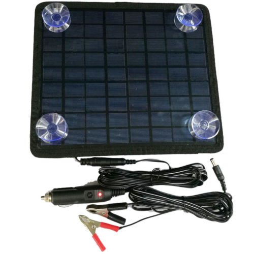 Beenaspiring Waterproof Solar Panel 12V Battery Charger System Maintainer For Marine Boat & RV &Car
