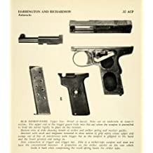 1948 Print .32 ACP Harrington Richardson Automatic Pistol Dismantled Gun Parts - Original Halftone Print