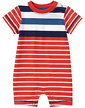 Baby Toddler Boys' Red Stripe Romper