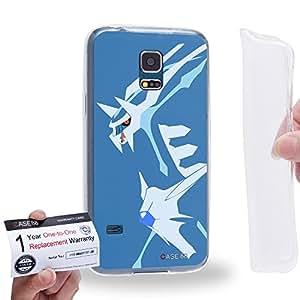 Case88 [Samsung Galaxy S5 Mini] Gel TPU Carcasa/Funda & Tarjeta de garantía - Pokemon Dialga 0827