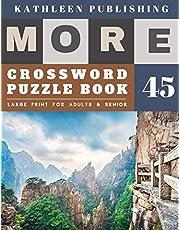 Crossword Puzzles Large Print: Crossword Quick | More Crosswords Quiz for beginners Large Print for adults & senior | Nature Design
