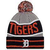 New Era Detroit Tigers Banner Block Pom Knit Hat/Cap