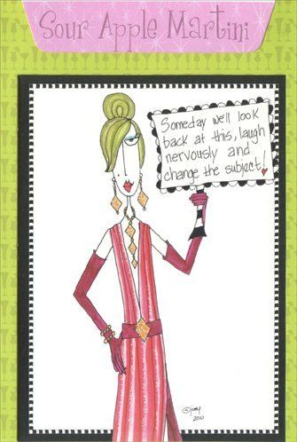 Sour Apple Martini - Dolly Mama Funny Recipe Birthday Card (Best Apple Martini Recipe)