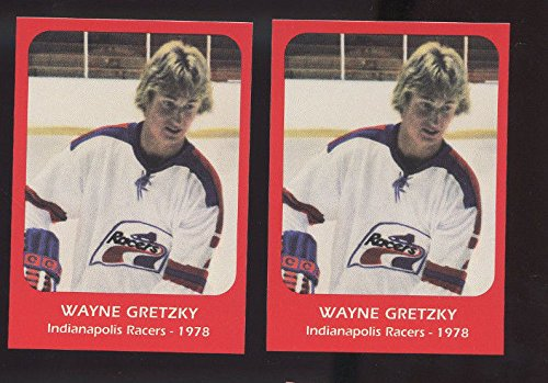 (LOT 2 1978 Wayne Gretzky Indianapolis Racers Pre ROOKIE Hockey Card Collection)