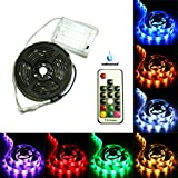 #4: 3.28ft Battery Powered Strip Lights, Waterproof, DIY Indoor and Outdoor Decoration, 17-Keys Remote Controlled