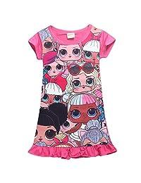 Wazonton LOL Surprise Girls Nightgowns Little Girls Pajama Dress