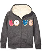 Marca Amazon - Spotted Zebra Sherpa-Lined Fleece Zip-up Hoodies Unisex niños