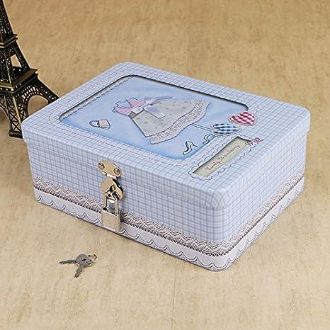 WENLONG Caja de Hierro, Caja de te, de Gran tamaño, pequeño Fresh Postal