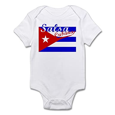 CafePress Salsa Cubana Infant Bodysuit Cute Infant Bodysuit Baby Romper Cloud White