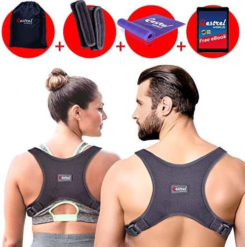 2019 Back Straightener Posture Corrector for Women and Men - Shoulder Brace Back Posture Corrector for Men - Upper Back Support and Neck Pain Relief - Under Clothes Back Brace for Neck & Shoulder
