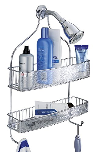mdesign-extra-wide-bathroom-shower-caddy-for-shampoo-conditioner-soap-razor-chrome-clear