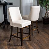 Christopher Knight Home 295515 Harman Counterstool, Linen