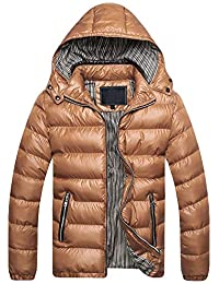 433eb5e9c6 Mens Down Jackets Puffer Coat Detachable Hooded Thicken Outwear Overcoat