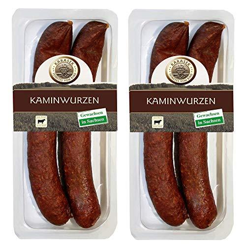 Kaminwurzen Rind 100%   Rindswurst geräuchert   Ausgereifte Mettwurst – Salami zum kalt & heiß essen   Knacker…
