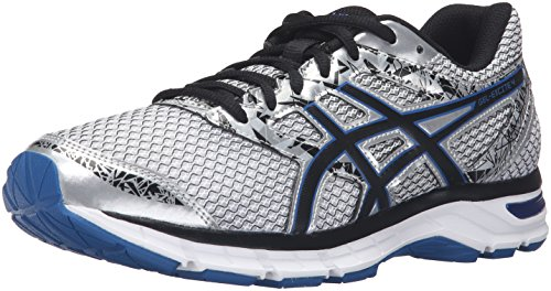 ASICS Men's Gel-Excite 4 Running Shoe, Silver/Black/Imperial, 9.5 M US