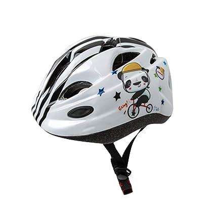 VORCOOL Casco de Bicicleta para niños Panda de Dibujos Animados Registrarse Cascos de Bicicleta Equipo de