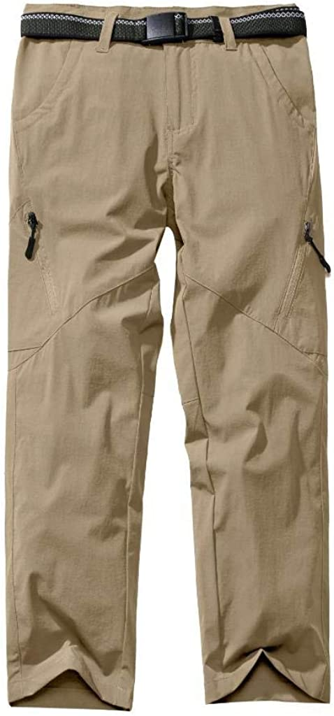 Toomett Kids Boys Girls Lightweight Breathable Wrinkle-Resistant Nylon Pants for Hiking and Everyday Wear