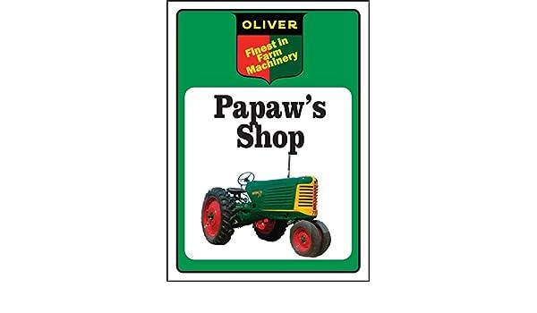 John Deere Tractor Sign Papaw/'s Shop