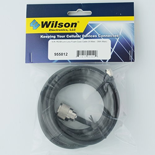 Wilson RG-58 10ft Coax Cable N-M/SMA M 955812 by Wilson Electronics