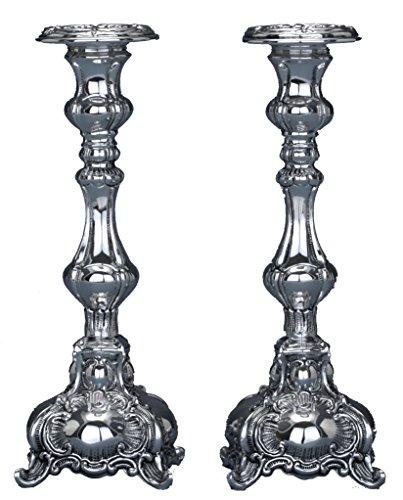 Hazorfim Ben Yehuda Silver Candlesticks - Mini Shabbat candlestick sterling silver judaica Israel Jerusalem Holy land gift Sabbath candles light .925 925 wedding gift present hatzorfim by Hazorfim
