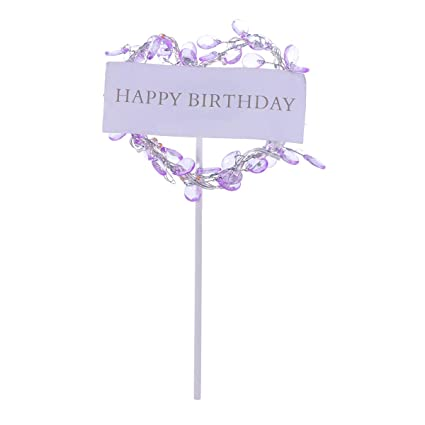 Amazon Com Lighted Glow Cute Happy Birthday Cake Toppers