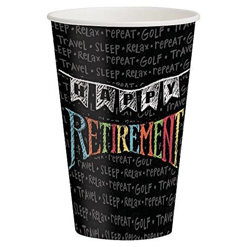 Retirement Chalk 12oz Paper Cups
