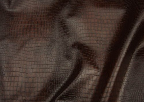 luvfabrics Alligator Brown Color Upholstery Leather Vinyl Fabric Per Yard Shipped Rolled