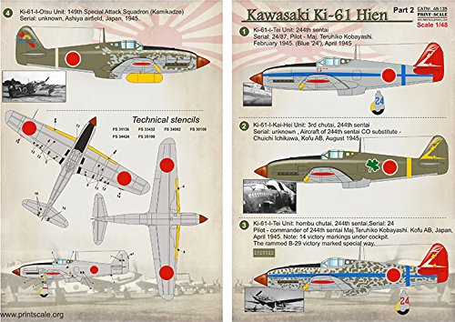 Amazon.com: Adhesivo para Kawasaki KI-61 HIEN PART-2 ...