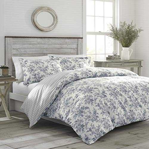 Laura Ashley Annalise Floral Duvet Cover Set Fullqueen Medium Grey