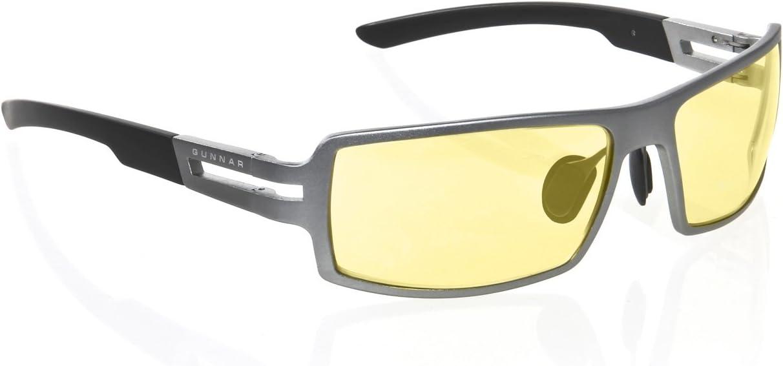5db385348bac Amazon.com  Gunnar Optiks RPG-05401 RPG Full Rim Advanced Video Gaming  Glasses with Quad-Core Hinge Design and Amber Lens Tint
