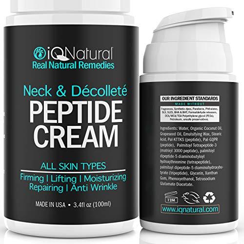 Neck Firming Cream, Anti Aging Moisturizer for Neck & Décolleté, Double Chin Reducer, Skin Tightening Cream 3.4 fl oz.