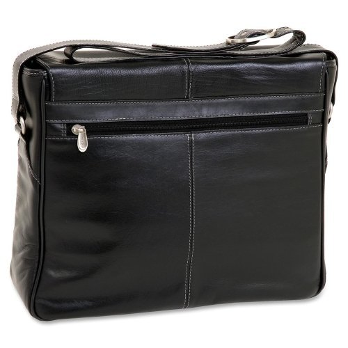 Siamod San Francesco Carrying Case (Messenger) For 15.4'' Notebook . Black . Napa Cashmere Leather ''Product Type: Accessories/Carrying Cases'' by Unknown