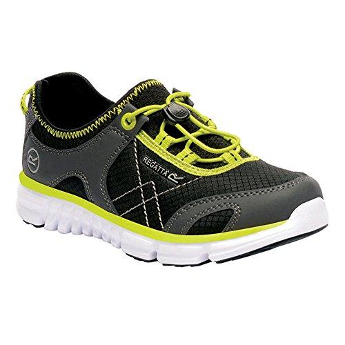 Zapato regata Niños Platipus II Black / Neon Spring
